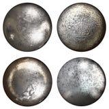 Steel rivet heads Stock Photo