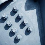 Steel rivets Stock Photos