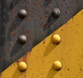 Steel rivets from the railway bridge Royalty Free Stock Photos