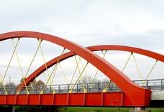 Steel road bridge Royalty Free Stock Photography