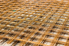 Steel road net used to reinforce inside concrete Stock Images