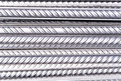 Steel rod as background Stock Images