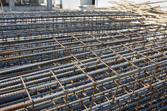 Steel rod in construction site Stock Image