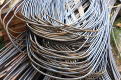 Steel rod for construction Stock Images