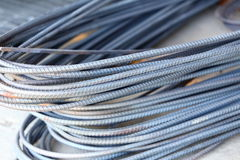 Steel rod for construction job Royalty Free Stock Image