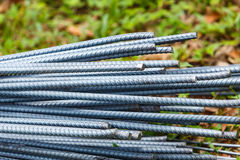 Steel rod for construction job Royalty Free Stock Images