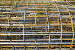 Steel rod for construction job Stock Photos
