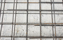 Steel rod mesh Royalty Free Stock Image