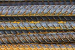 Steel rod. Pattern of Rusty Steel Rod Royalty Free Stock Photography