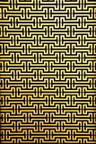 Steel rod pattern on yellow Royalty Free Stock Photography