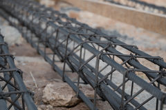 Steel rod. For poles construction Royalty Free Stock Photography