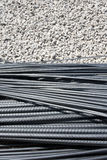Steel rod in construction site Stock Photos