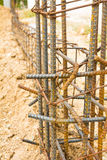 Steel rod under construction Stock Photography