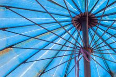 Steel rod used to make umbrella. Stock Images