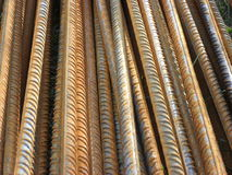 Steel rods 2. A rusty construction bars made by steel Royalty Free Stock Photo
