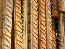 Steel rods. A rusty construction bars made by steel Royalty Free Stock Photos