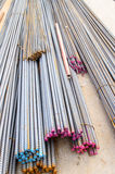 Steel rods. Royalty Free Stock Images