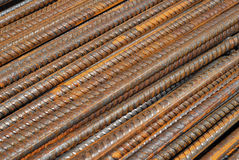 Steel rods. Used in construction Royalty Free Stock Photography