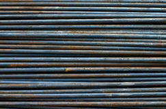 Steel rods. Background texture of steel rods Stock Photography