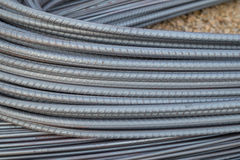 Steel rods or bars for construction Stock Image