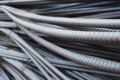 Steel rods or bars used to reinforce concrete Royalty Free Stock Image