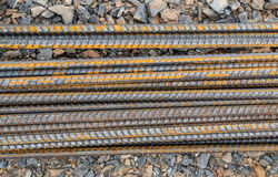 Steel rods or bars Stock Photo