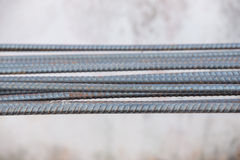 Steel rods or bars used to reinforce concrete Royalty Free Stock Photos