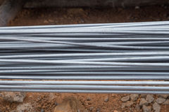 Steel rods or bars Stock Image
