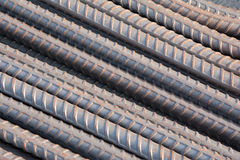 Steel rods or bars used to reinforce concrete. Stock Images