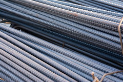Steel rods or bars used to reinforce concrete. Royalty Free Stock Photography