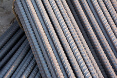 Steel rods or bars used to reinforce concrete. Stock Photos