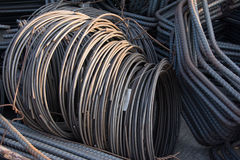 Steel rods or bars used to reinforce concrete. Royalty Free Stock Photo