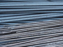 Steel rods or bars used to reinforce concrete Royalty Free Stock Images