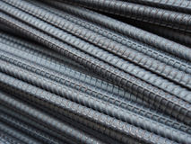 Steel rods or bars used to reinforce concrete Stock Image