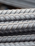 Steel rods or bars used to reinforce concrete Royalty Free Stock Photo
