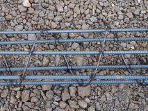 Steel rods or bars used to reinforce concrete technicians. Royalty Free Stock Photography