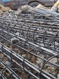 Steel rods or bars used to reinforce concrete technicians Stock Photography