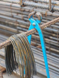 Steel rods or bars used to reinforce concrete technicians. Royalty Free Stock Photo