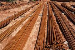 Steel Metal Rods Construction  Stock Photos