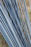 Steel rods for construction site Stock Photography