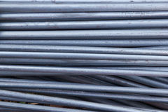 Steel rods for construction site Stock Image
