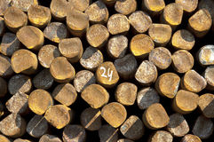 Steel rods numbered Royalty Free Stock Photo