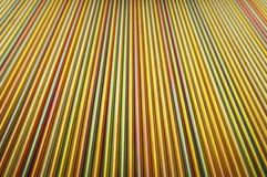 Steel rods plated. Rainbow pattern on steel rods plated - natural background Stock Photo