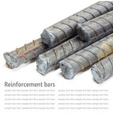 Steel rods, Reinforcement bars isolated on white background used Stock Image