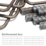 Steel rods, Reinforcement bars isolated on white background used Royalty Free Stock Image