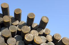 Steel rods on sky background Royalty Free Stock Image