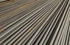 Steel rods used in construction Stock Images