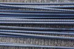 Steel rods used to reinforce concrete Royalty Free Stock Photo