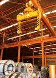 Steel Roll Lifter Stock Photo