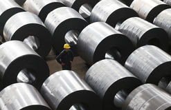 Steel roll stock Stock Images